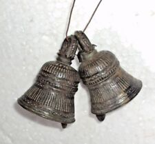 Old vintage Indian Brass 2 Pc. Bells beautiful Decorative Bells