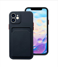 Case For iPhone 12 Pro Max Shockproof Card Holder Tpu Slot Cover