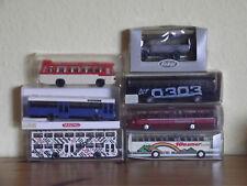 Sammlung Bus Omnibus 1:87 7 Stück Wiking,I.M.U,Roskopf.MAN,Setra,Magirus OVP