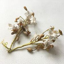 2 Bouquets Anciens Fleur Oranger Couronne Mariée Fin XIXè Wedding Wax Flower