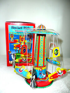 SCHYLLING COLLECTOR SERIES ROCKET RIDE CAROUSEL TIN TOY ~ NEW IN BOX