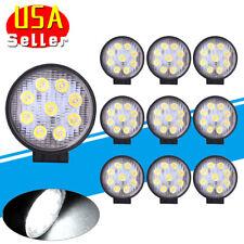 10x 4inch 27W Round LED Work Lights Pod SPOT Beam Offroad Fog Driving Light 12V