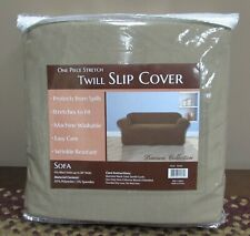"""Stretch Twill Slipcover for 90"""" Sofa Great Bay Home Dawson Collection New"""