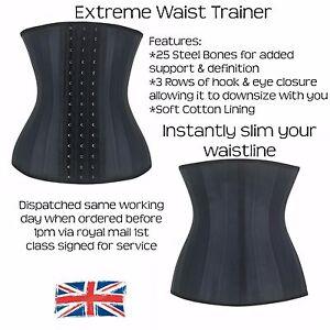 Waist Trainer Corset, Cincher, 25 Steel Bone, Girdle, Latex Shaper, Slimming