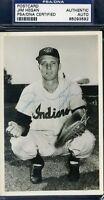 Jim Hegan Indians Psa/dna Signed Photo Postcard Autograph Authentic