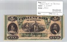 BILLET USA - 5 DOLLARS 1860 - CITIZEN BANK OF LOUISIANA
