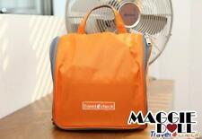 Travel Hanging Wash bag Cosmetic Makeup Toiletry pruse Organizer Large Orange