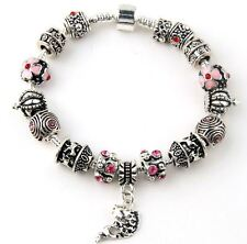 Bettelarmband Bettlerarmband Armband Schmuck Silber plattiert (versilbert) pink