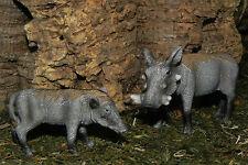 Warthog Retired Schleich Figurines Wild Animal Diorama Sow and Piglet Figure