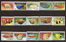 COCOS ISLAND 15 timbres  neufs :les divers  poissons des mers  28M145T6