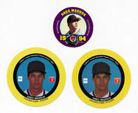 (3) 1989 CADACO 1994 KING B DISC'S GREG MADDUX  CUBS BRAVES PADRES DODGERS