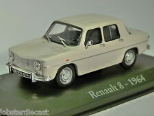 1964 Renault 8 in White 1/43 scale diecast model car by RBA Collectables