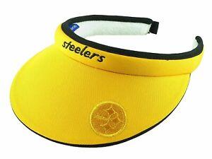 Reebok NFL Women's Pittsburgh Steelers Tension Visor, Yellow
