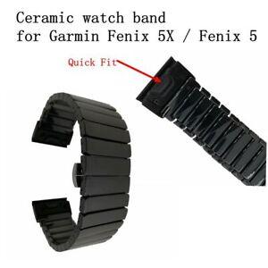 Quick Release Ceramic Watch Band Wristband For Garmin Fenix 5/Fenix 5X Bracelet