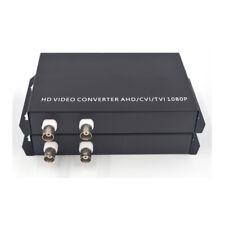 2 HD Video to Fiber Optic Media Converters 1080p 960p 720p TVI CVI HD Cameras FC
