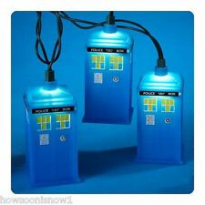 Wholesale Lot of 12 Sets: Kurt Adler Doctor Who TARDIS Holiday String Lights
