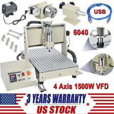 USB Port! 4 Axis CNC Router 6040T Engraver Kit 1500W 3D Engraving Machine Mach3