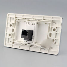 Wall Socket Plate 1 Ports CAT6 Outlet RJ45 Panel Faceplate RJ45 120mmx70mm