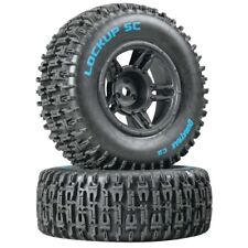 NEW Duratrax Traxxas Slash SC Mounted Lockup C2 Front Tire / Wheel Set (2) DT...