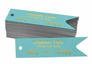 Inkdotpot Thank You From The New Wedding Bottle Tag Real Gold Foil-tkA