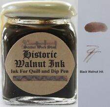 Brown Walnut Historic Ink for Calligraphy & Drawing using Quill or Dip Pen