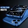 COVER per iPhone 12 Pro Max Mini CUSTODIA ULTRA SLIM MATTE + VETRO TEMPERATO 9H