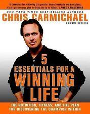 Chris Carmichael et al~5 ESSENTIALS FOR A WINNING LIFE~SIGNED 1ST(2ND)/DJ