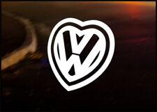 VW logo love, Vinyle Autocollant Voiture JDM Autocollant Golf Dub Euro bug Polo Camper T4 T5