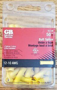New Gardner Bender 12-10 Ga. Butt Splice Yellow 50 pk
