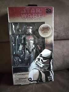 "STAR WARS BLACK SERIES carbonized Stormtrooper 6"" scale action figure hasbro"