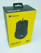 Corsair Ironclaw RGB FPS/MOBA Gaming Mouse - Black NEW SEALED