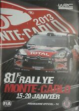 81st Monte Carlo Rally Official Programme 2013  WRC    62 Pages