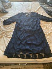 Junarose Dress Shift Plus Size 2X Maroon 2 Side Pockets Short Sleeve Cotton Mix