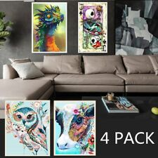 4 PACK 5D Diamond Painting Kit Full Drill Rhinestone Embroidery Home Wall Decor