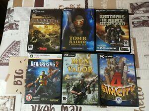 X6 PC unique popular action GAMES SETdeadrising2/simcity 4/sniper elite/tomb
