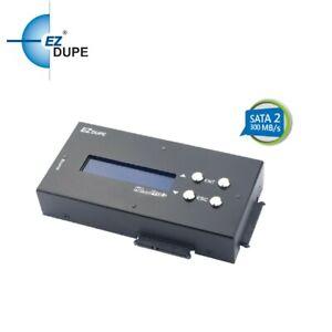 EZ Dupe 1 to 2 SATA Hard Drive / SSD Duplicator & Compact Sanitizer 18GB/Minute