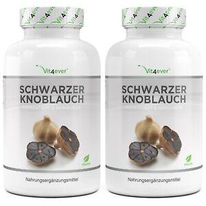 Schwarzer Knoblauch Extrakt - 360 Kapseln a 750mg Vegan Fermentiert Geruchslos