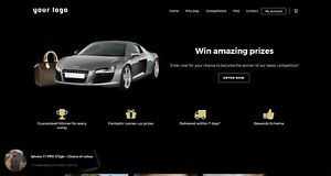 Professional Competition Raffle Lottery Website - £ Make Money Instantly