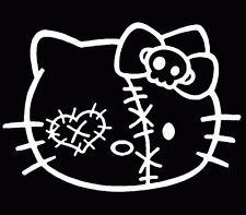 Hello Kitty Zombie Decal JDM Racing White Sticker Window Truck