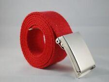 Cinture da uomo rosso taglia 120 cm