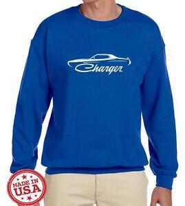 1973 1974 Dodge Charger Classic Outline Design Sweatshirt NEW