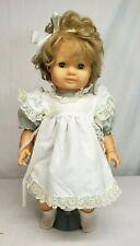 "Vintage 1989 GOTZ Puppen CAREN 18"" Toddler Girl Soft Body Baby Doll West GERMANY"