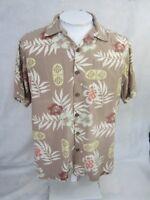 BOCA CLASSICS Men Hawaiian ALOHA shirt pit to pit 23.5 tropical camp luau floral