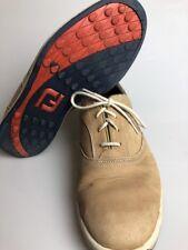 Footjoy Golf Shoes Mens Size 9.5 FJ Causal Tan Sneakers