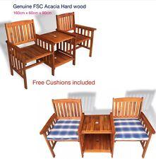 Hercules 2 Seater Wooden Love Seat Chair Garden Furniture Wood Patio Outdoor