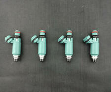 4x NEW OEM 440cc Light Blue Fuel Injectors Feed For 2002-2005 Subaru WRX