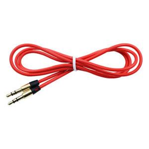 RED 3.5mm Audio Cable Car AUX-In Cord Lead for Samsung DA-E750 Speaker