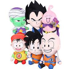 6Pcs Dragon Ball Z Goku Gohan Majin Boo Vegeta Farci Doux Peluche Jouet Poupée