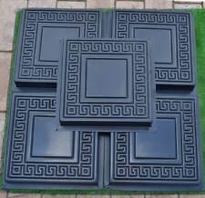 5pcs plastic molds casting concrete paving garden pathsPavement stone patio #S01