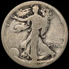 1920-S 50C US 90% Silver Walking Liberty Half Dollar - ABOUT GOOD - BETTER DATE!